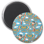 Wonder Woman Flying High Pattern 2 Inch Round Magnet
