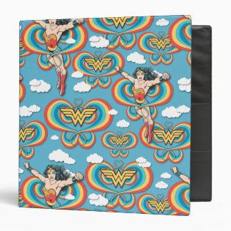 Wonder Woman Flying High Pattern Binder