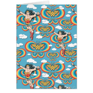Wonder Woman Flying High Pattern Card