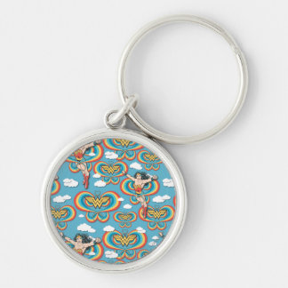 Wonder Woman Flying High Pattern Keychain