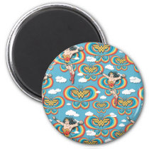 Wonder Woman Flying High Pattern Magnet