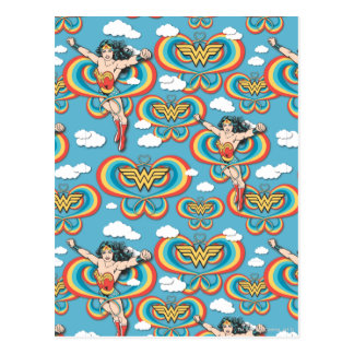 Wonder Woman Flying High Pattern Postcard