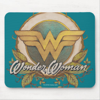 Wonder Woman Foliage Sketch Logo Mouse Pad