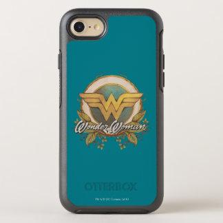 Wonder Woman Foliage Sketch Logo OtterBox Symmetry iPhone 8/7 Case