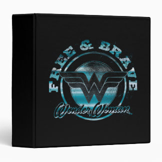 Wonder Woman Free & Brave Grunge Graphic Binder
