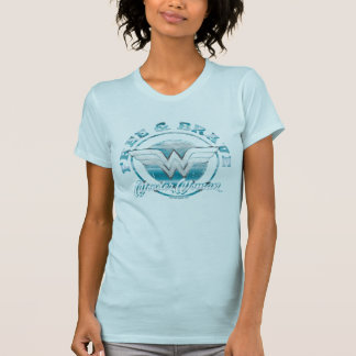 Wonder Woman Free & Brave Grunge Graphic T-Shirt