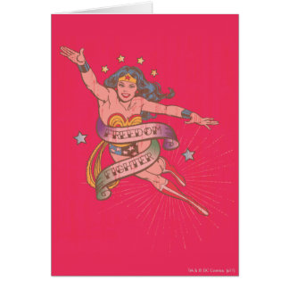 Wonder Woman Freedom Fighter Greeting Card