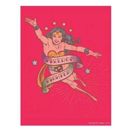 Wonder Woman Freedom Fighter Postcard