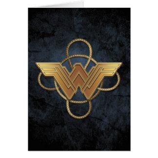 Wonder Woman Gold Symbol Over Lasso Card