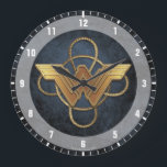 "Wonder Woman Gold Symbol Over Lasso Large Clock<br><div class=""desc"">Check out this golden Wonder Woman symbol laid atop the Lasso of Truth!</div>"