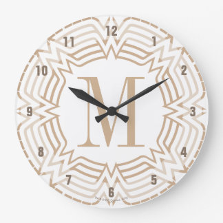 Wonder Woman Greek Pattern Large Clock
