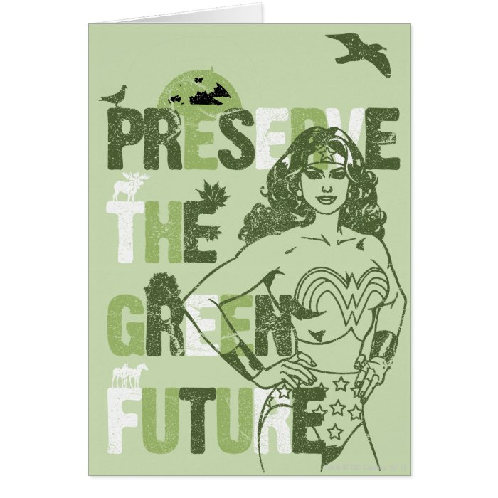 Wonder Woman Green Future Card