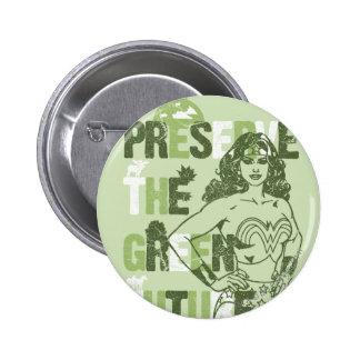 Wonder Woman Green Future Pinback Button