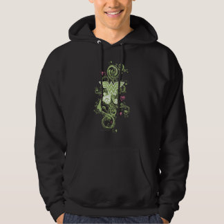 Wonder Woman Green Swirls Logo Hoodie