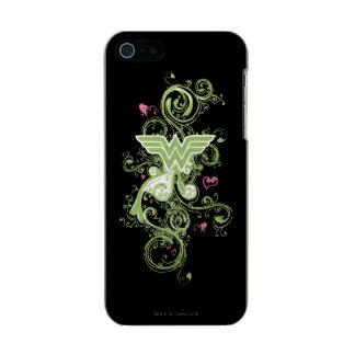 Wonder Woman Green Swirls Logo Incipio Feather® Shine iPhone 5 Case