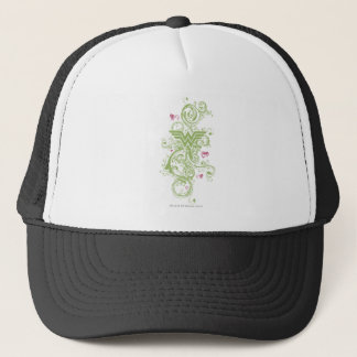 Wonder Woman Green Swirls Logo Trucker Hat