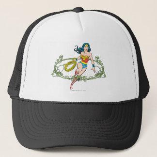 Wonder Woman Green Vines Trucker Hat