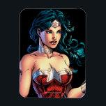 "Wonder Woman Gripping Lasso Atop Rock Magnet<br><div class=""desc"">The New 52 comic book art featuring Wonder Woman gripping her lasso at the ready,  stood on top of a rock.</div>"