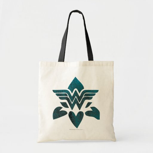 Wonder Woman Grunge Logo Canvas Bags