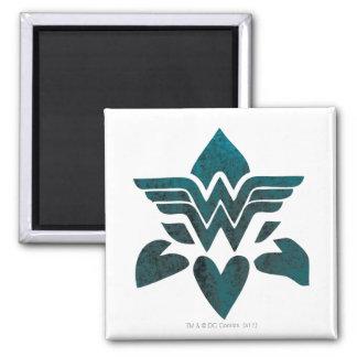 Wonder Woman Grunge Logo Refrigerator Magnets