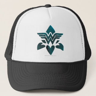 Wonder Woman Grunge Logo Trucker Hat