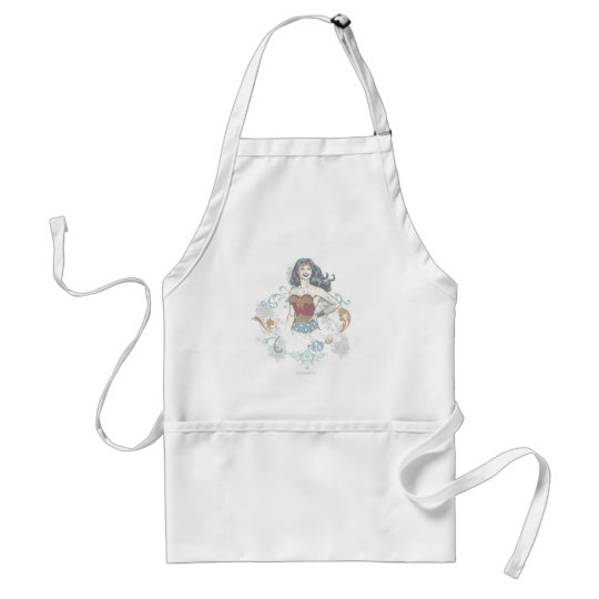 Wonder Woman Halftone Adult Apron