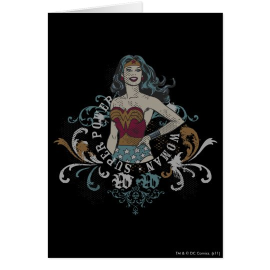 Wonder Woman Halftone Card