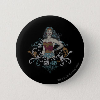 Wonder Woman Halftone Pinback Button