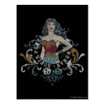 Wonder Woman Halftone Postcard