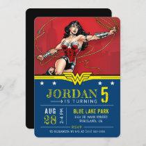 Wonder Woman   Happy Birthday Invitation
