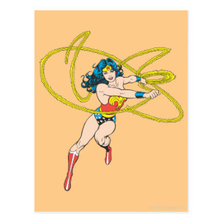Wonder Woman Holds Lasso 1 Postcard