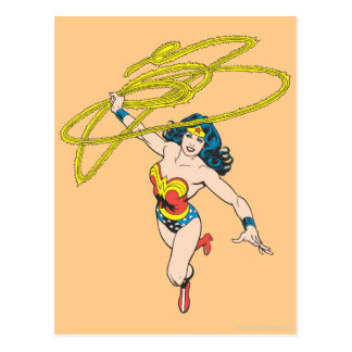Wonder Woman Holds Lasso 2 Postcard