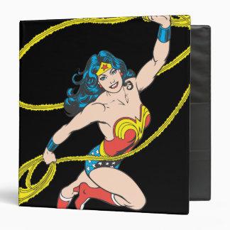 Wonder Woman Holds Lasso 3 3 Ring Binder