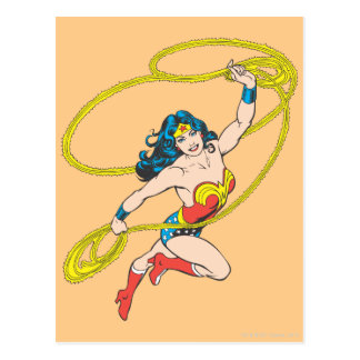 Wonder Woman Holds Lasso 3 Postcard