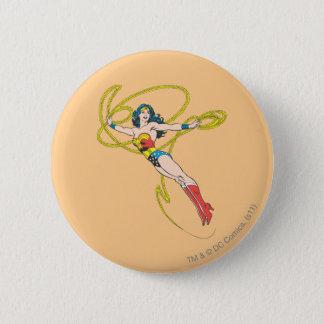 Wonder Woman Holds Lasso 4 Pinback Button