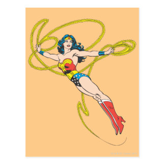 Wonder Woman Holds Lasso 4 Postcard