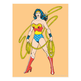 Wonder Woman Holds Lasso 5 Postcard