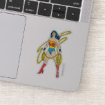 Wonder Woman Holds Lasso Sticker