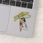 Wonder Woman Holds Lasso Sticker