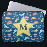 "Wonder Woman Icons &amp; Phrases Pattern | Monogram Laptop Sleeve<br><div class=""desc"">Check out this Wonder Woman pattern featuring various symbols,  icons,  and phrases. Type your initial into the template field provided!</div>"