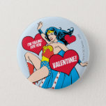 Wonder Woman   I'm Falling For You Valentine Button