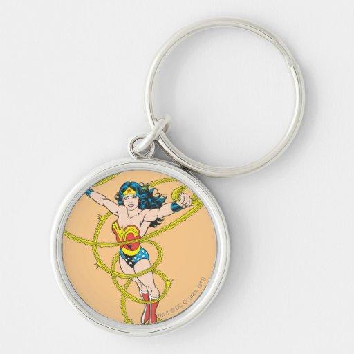 Wonder Woman in Lasso Keychain