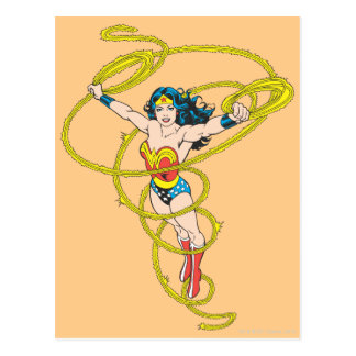 Wonder Woman in Lasso Postcard