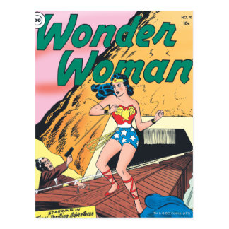 Wonder Woman Invisible Trail Postcard