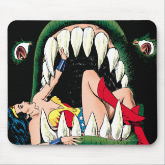 Wonder Woman Jaws Mouse Pad