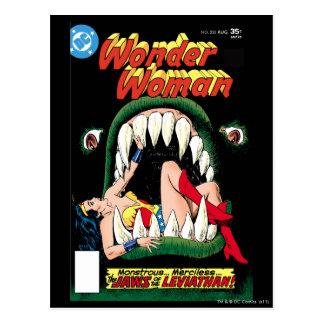 Wonder Woman Jaws Postcard