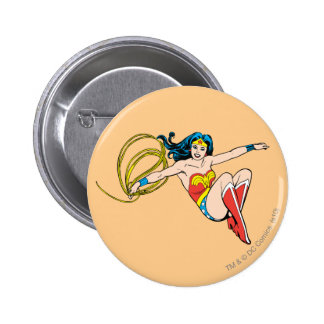 Wonder Woman Jumping Pinback Button