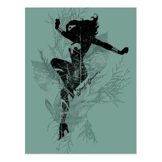 Wonder Woman Landing Foliage Graphic Postcard