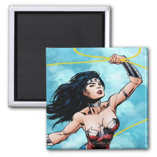 Wonder Woman & Lasso of Truth 2 Inch Square Magnet