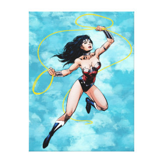 Wonder Woman & Lasso of Truth Canvas Print